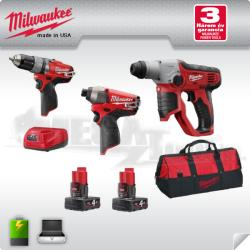 Milwaukee M12SET3D-402B