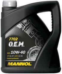 MANNOL 7702 OEM for Chevrolet Opel 10W-40 (4L)