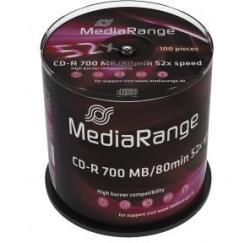 MediaRange CD-R 700Mb 52X 100 бр.