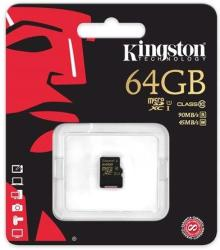 Kingston microSDXC 64GB UHS-I Class 10 SDCA10/64GBSP