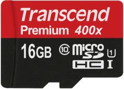 Transcend microSDHC 16GB Class 10 UHS-I TS16GUSDCU1