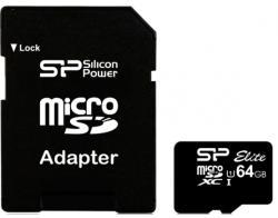 Silicon Power microSDXC Elite 64GB C10/U1/UHS-I SP064GBSTXBU1V10SP
