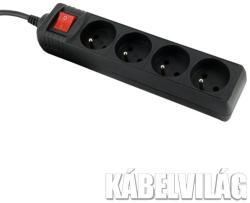 Whitenergy 4 Plug 1,8m Switch (08404)