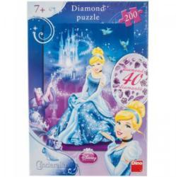 Dino Disney Hercegnők Hamupipőke Csillogó köves puzzle 200 db-os (422018)