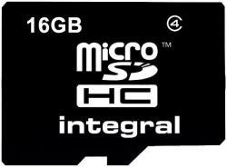 Integral MicroSDHC 16GB Class 4 INMSDH16G4NAV2