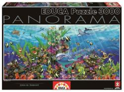 Educa Panoráma Puzzle - John M. Enrirght: Korallzátony 3000 db-os (16020)