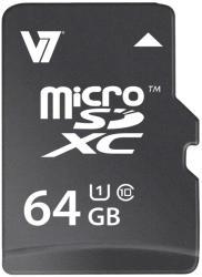 V7 microSDXC 64GB Class 10 UHS-I VAMSDX64GUHS1R-2E