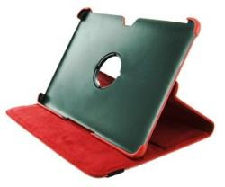 4World Stand Case for Galaxy Tab 10.1 - Red (08209)
