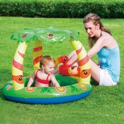 Dzsungel bébi játszómedence napellenzővel 99x91x71cm (SME051)