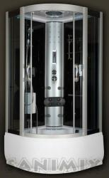 Sanimix 100x100x215 cm negyedköríves (22.56.5/3)