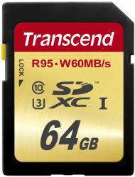 Transcend SDXC 64GB Class 10 UHS-I U3 TS64GSDU3