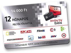 Mindig TV Extra Alap Csomag Feltöltő Kártya (12 hónapos)