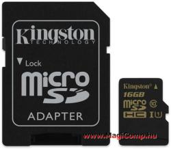 Kingston microSDHC 16GB Class 10 UHS-I SDCA10/16GB
