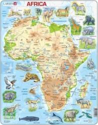 Larsen Afrika térkép állatokkal 63 db-os A22