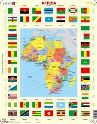 Larsen Afrika térkép+zászló 70 db-os KL3