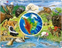 Larsen Észak-Amerika állatvilága 90 db-os AW3
