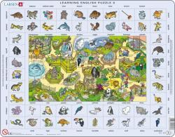 Larsen Tanuljunk angolul! Az állatkertben 70 db-os