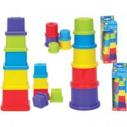 5 részes toronyépítő bébijáték 5007