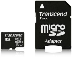 Transcend Premium microSDHC 8GB Class 10 UHS-I 300x TS8GUSDU1