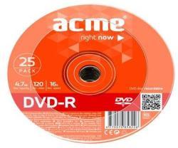 ACME DVD-R 4.7GB 16x - zsugor 25db DVDA-16Z25