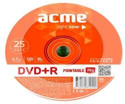 ACME DVD+R 4.7GB 16x - zsugor 25db DVDA+16Z25N