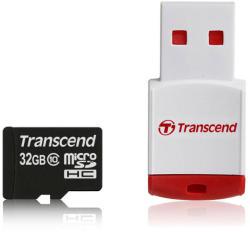 Transcend MicroSDHC 32GB Class 10 + P3 Card Reader TS32GUSDHC10-P3