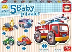 Educa Bébi Puzzle - Járművek 5 db-os (14866)