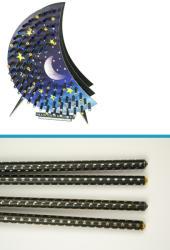 Swarovski Köves ceruza hold és csillag mintával (SW183)