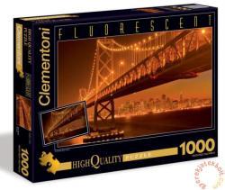 Clementoni San Francisco Fluoreszkáló puzzle 1000 db-os (39175)