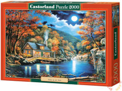 Castorland Kunyhó a tó mellett 2000 db-os (C-200504)