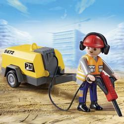 Playmobil Építőmunkás Légkalapáccsal (5472)