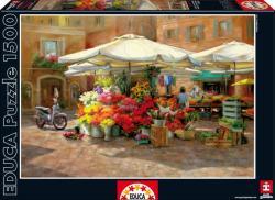 Educa Genuine Market Research - Virágpiac 1500 db-os (16010)