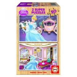 Educa Disney Hamupipőke 2x50 db-os fa puzzle (15286)