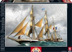 Educa Under Full Sail/Szállítóhajó a tengeren 2000 db-os (16015)