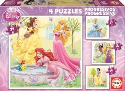 Educa Disney Hercegnők 4 az 1-be 12-16-20-25 db-os (15289)