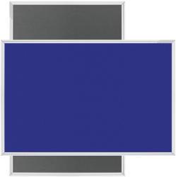 Magnetoplan Panou textil MAGNETOPLAN, 90x120 cm, gri/ albastru
