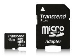 Transcend microSDHC 16GB Class 10 TS16GUSDU1