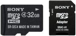 Sony MicroSDHC 32GB Class 4 SR32A4