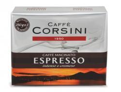 Caffé Corsini Espresso Casa, őrölt, 2 x 250g