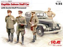 ICM Kapitan Saloon Staff car w/personnel 1/35 35477
