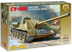 Zvezda SU-100 Soviet Self-propelled Gun 1/35 3531