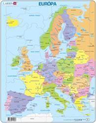 Larsen Európa térkép 37 db-os A8