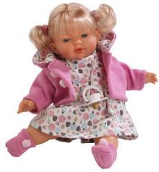 Llorens Ariana síró baba rózsaszín kardigánban - 33 cm