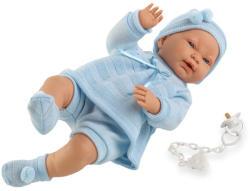 Llorens Csecsemő baba kék ruhában - 45 cm