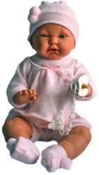 Llorens Csecsemő baba rózsaszín ruhában - 45 cm