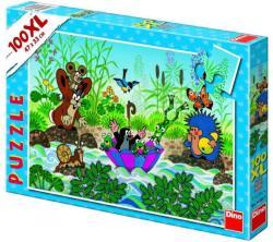 Dino XL Puzzle - Kisvakond csónakázik 100 db-os (343061)