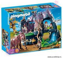 Playmobil Pestera din evul mediu cu mamut (PM5100)