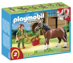 Playmobil Cal cu ingrijitor si grajd (PM5108)