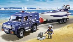 Playmobil Camion de politie cu barca (PM5187)