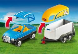 Playmobil Masina cu remorca pentru cal (PM5223)